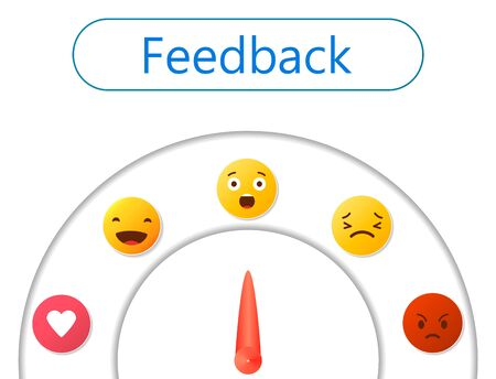 Feedback concept design, emotions scale background and banner 일러스트