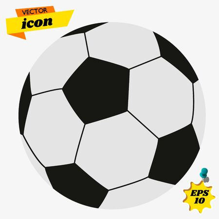 Soccer Ball Football Symbol Icon. Soccer Ball icon. Football Vector Design Illustration.