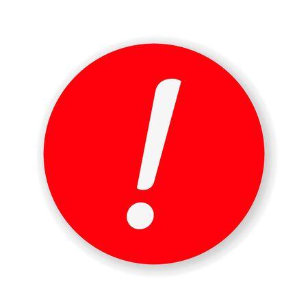 Exclamation Mark Hazard Warning Symbol Icon Vector Design Illustration. Stock Illustratie