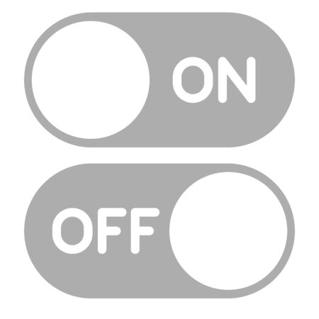 On Off Button Icon Vector Design Illustration Illustration