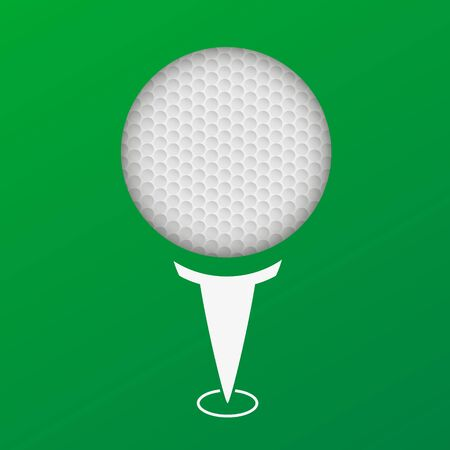 A vector illustration of a golf flyer. Perfect for golf tournaments and events. Stok Fotoğraf
