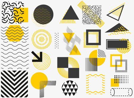 Set of vector geometric shapes. Trendy graphic elements for your unique design Stok Fotoğraf