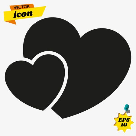 Heart icon in trendy flat style isolated on background. Heart icon page symbol for your web site design Heart icon