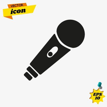 microphone vector icon Stock Illustratie