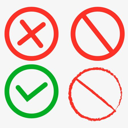 Stop sign, stop icon - vector stop illustration. Delete icon - no sign, close symbol vector, cancel, wrong and reject illustration. Çizim