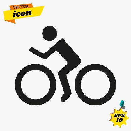 Vector Cyclist icon. Bike. Bicycle. Ilustração
