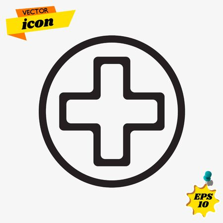Plus care icon ambulance symbol vector illustration Иллюстрация