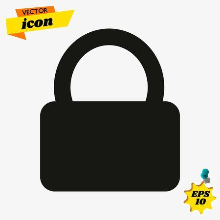 Lock vector icon illustration Иллюстрация