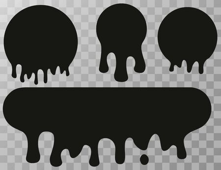 a drop of paint. stains from spray with paint. Current inks. Paint dripping. Dripping liquid. Paint flows. Vector illustration Illustration