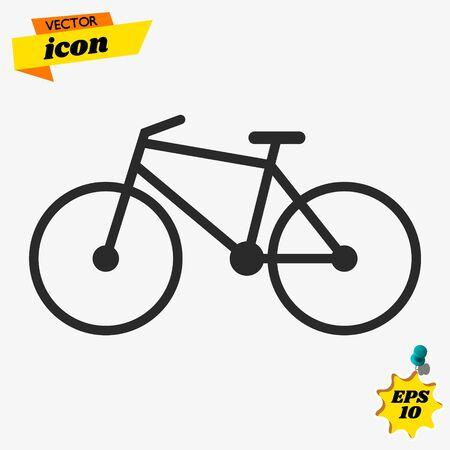 Bike icon. Flat vector illustration in black on white background.