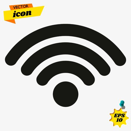 Wireless connection vector icon. filled flat sign for mobile concept and web design. Wifi signal simple solid icon.
