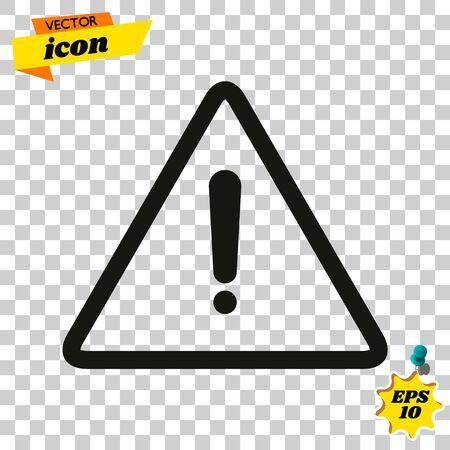 Exclamation mark. Exclamation mark. Hazard warning symbol. Flat design style. Ilustrace