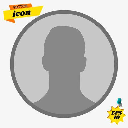 User sign icon. Person symbol. Human avatar.Flat style. Ilustrace