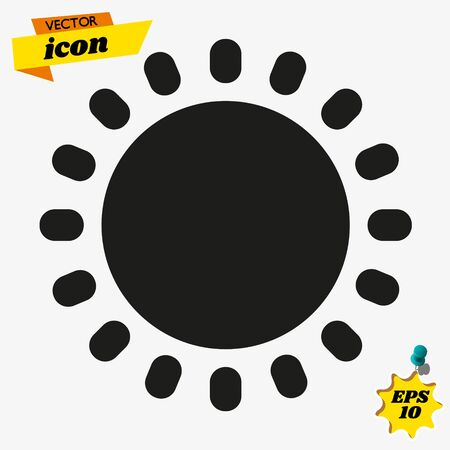 Sun icon. Sun line icon. Sunshine vector sign. Weather forecast sun outline sign design. Sunlight with ray pictogram