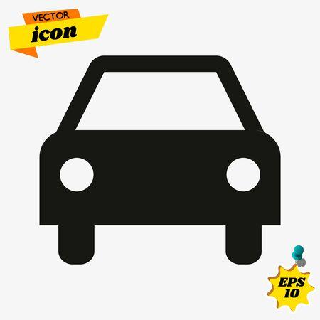 Car icon.car icon vector on gray background. Vector illustration.