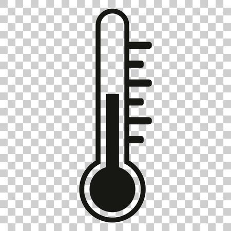 Thermometer vector icon, stock vector illustration flat design style. Ilustrace