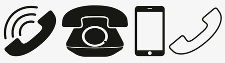 Phone icon in trendy flat style isolated on white background. Telephone symbol. Vector illustration Illusztráció