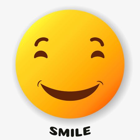 Smile icon   Vector Template Design. on a white background. Illusztráció