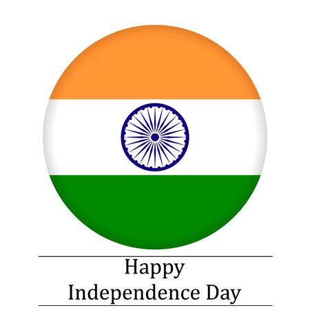 15 august Independence Day in India . Vector illustration