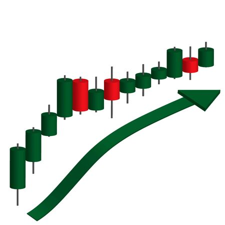 Candle stick graph chart of stock market investment trading, Stock exchange concept design. Vector illustrations Illusztráció