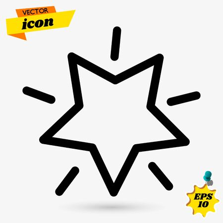 Premium star icon in line style. High quality sign and symbol on a white background. Vector outline pictogram for infographic, web design and app development.