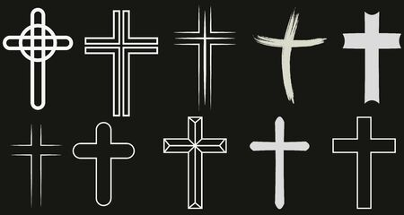 Christian cross icon template color editable. Church Cross icon. Religion Cross symbol vector sign isolated on white background. Simple logo vector illustration for graphic and web design.