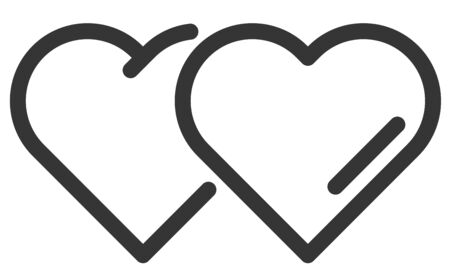 Heart and Love Icon Symbol isolated white background
