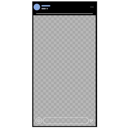 Stories.  Interface.  Post. Social Media Vector Illustration