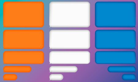 Message bubbles chat vector. Vector template of message bubbles chat boxes icons. Ilustrace