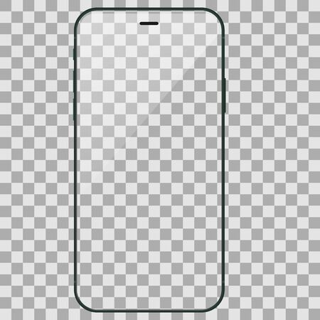 Devices screen mockup. Smartphone with blank background and screen for your design. Vector illustration EPS10