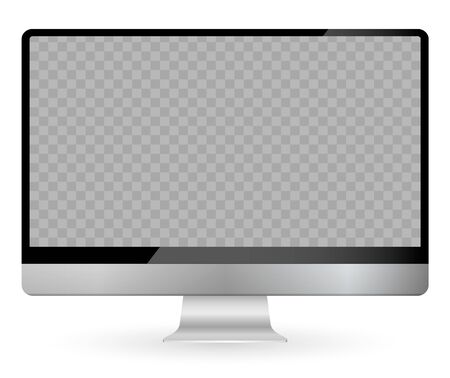 Vector illustration of modern flat screen computer monitor, isolated on white background