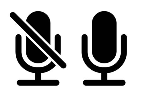 Simple Microphone Icons Иллюстрация