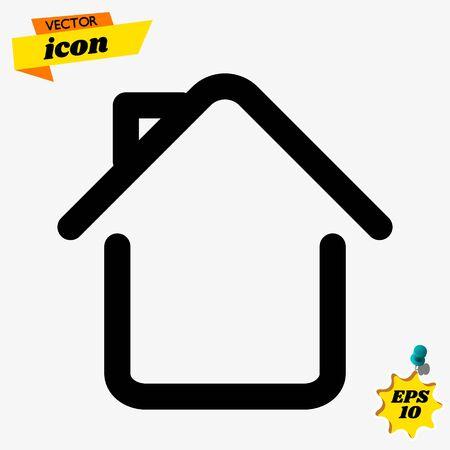 home icon , line design Ilustrace