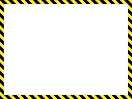 Construction warning border, vector illustration Ilustración de vector