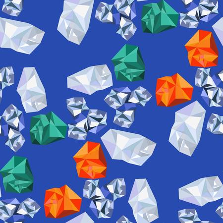precious: Background of geometric shapes imitating precious stones.Seamless. Illustration