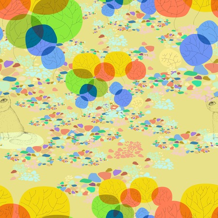 gentle: Colorful seamless gentle background. Illustration