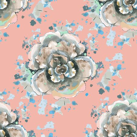delicate: Delicate background with roses. Seamless.