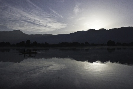 ranges: Sunrise behind mountain ranges