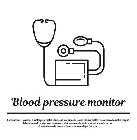 manometer: graphic set of icons in flat, contour, thin and linear design.Pressure measurement. Manual manometer. Concept infographic for Web site, app. Sign, symbol, emblem.