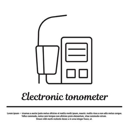 tonometer: Electronic tonometer. Automatic and autonomous pressure gauge. Modern technology.