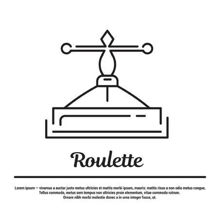 graphic set. Icons in flat, contour, thin and linear design. Gambling Roulette. Entertainment. Simple icon on white background.Concept illustration for Web site, app. Sign, symbol, emblem. Vektoros illusztráció