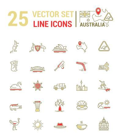 Vector Graphic Set  Silhouette, Logo, Icon  Australian Continent