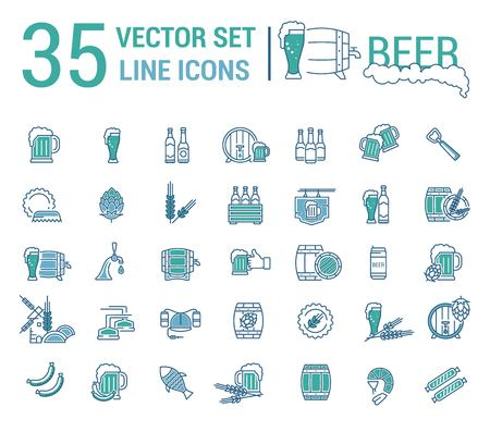 guinness: A Vector set on the subject of beer and brewing in a linear design