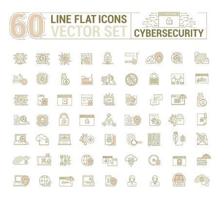 Une sécurité graphique Cyber. Protection de données électroniques virtuelles, opérations. Illustration de concept pour site Web. Signer, symbole.
