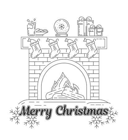 Jeu de graphiques vectoriels. Silhouette, logo, icône. Noël, nouvel an. Linéaire, plat, contour, fin, design. Application, modèle de site Web, infographie. Concept de signe de Noël. Élément, emblème, symbole.