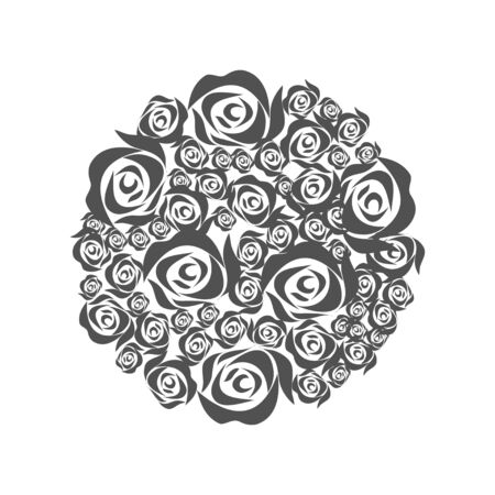 Bouquet of roses. Element for decoration. Graphic design element, emblem.