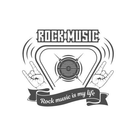 Vector rock music. Illustration for t-shirt, cover, banner.