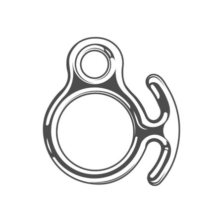 Vector graphic concept. Climbing equipment. active lifestyle. Symbol emblem, element, print.