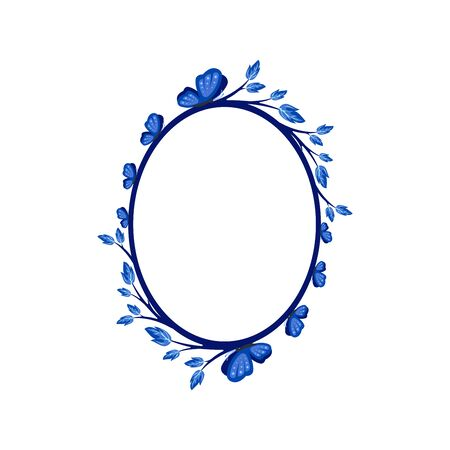 Vector concept photo frame with a butterfly. Blank template to decorate the image and photo. Modern elegant graphic design.