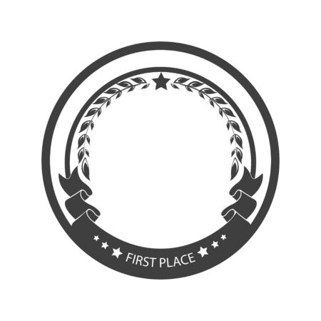 Vector illustration. Medal template for the winner. Prize, reward for victory. Graphic object  イラスト・ベクター素材